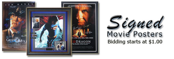 Signed Movie Posters